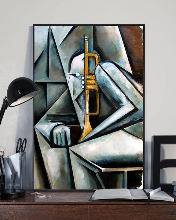 Masqualero art print trumpet man poster 4