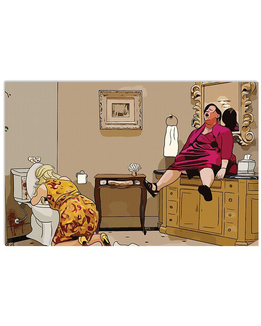 Megan bridesmaids sink scene cartoon poster 2