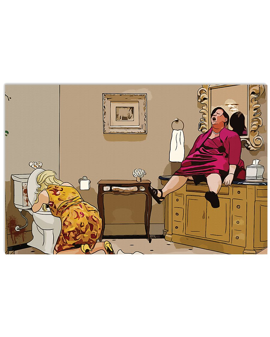 Megan bridesmaids sink scene cartoon poster 4