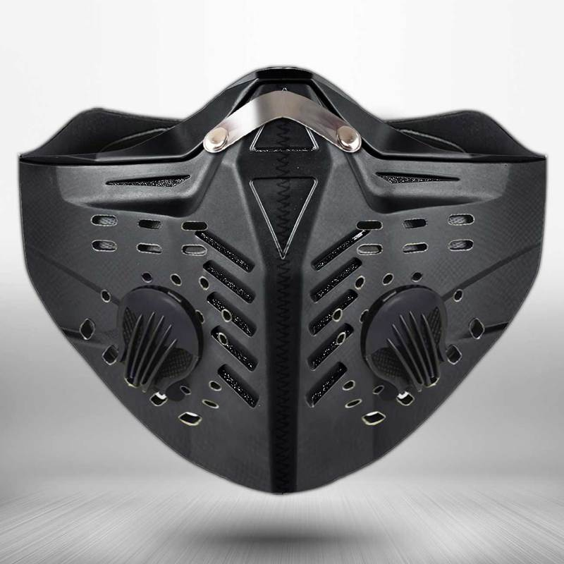 Motorcycle helmet anti pollution filter activated carbon face mask 4