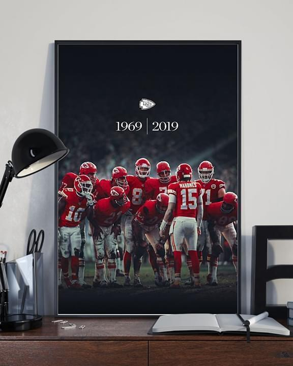 NFL kansas city chiefs 1969 2019 players formation poster 2
