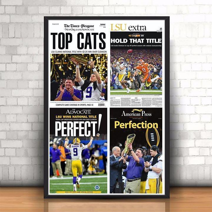 NFL lsu tigers win college football playoff national championship poster 2