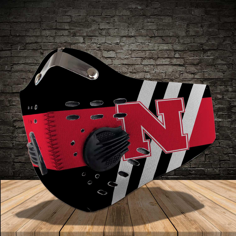 Nebraska cornhuskers football carbon filter face mask 1