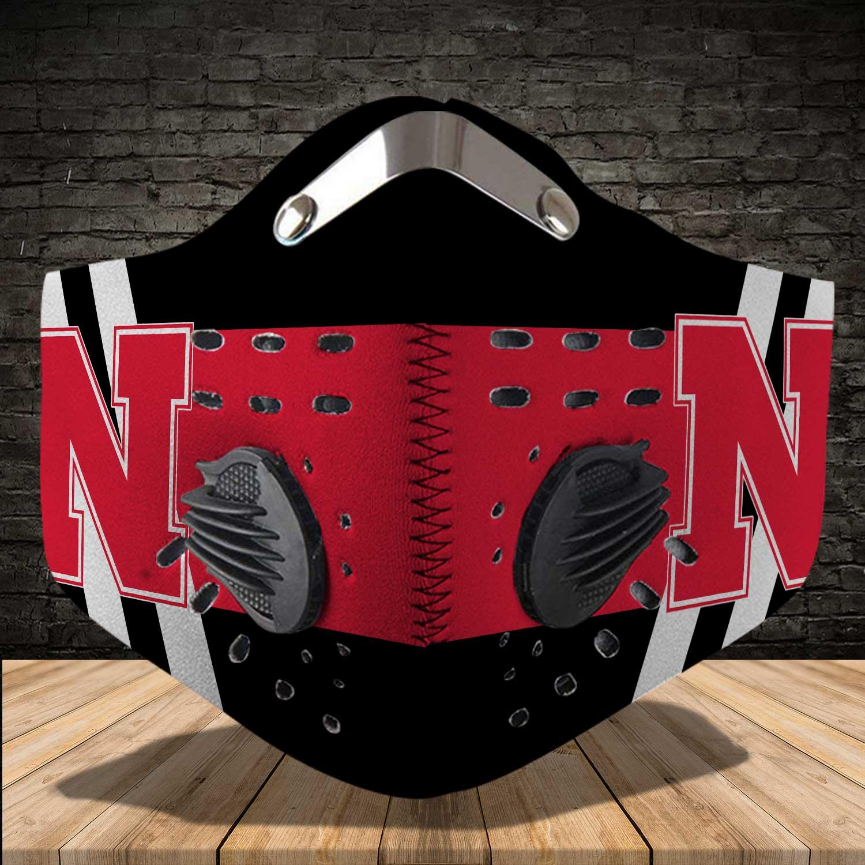 Nebraska cornhuskers football carbon filter face mask 3