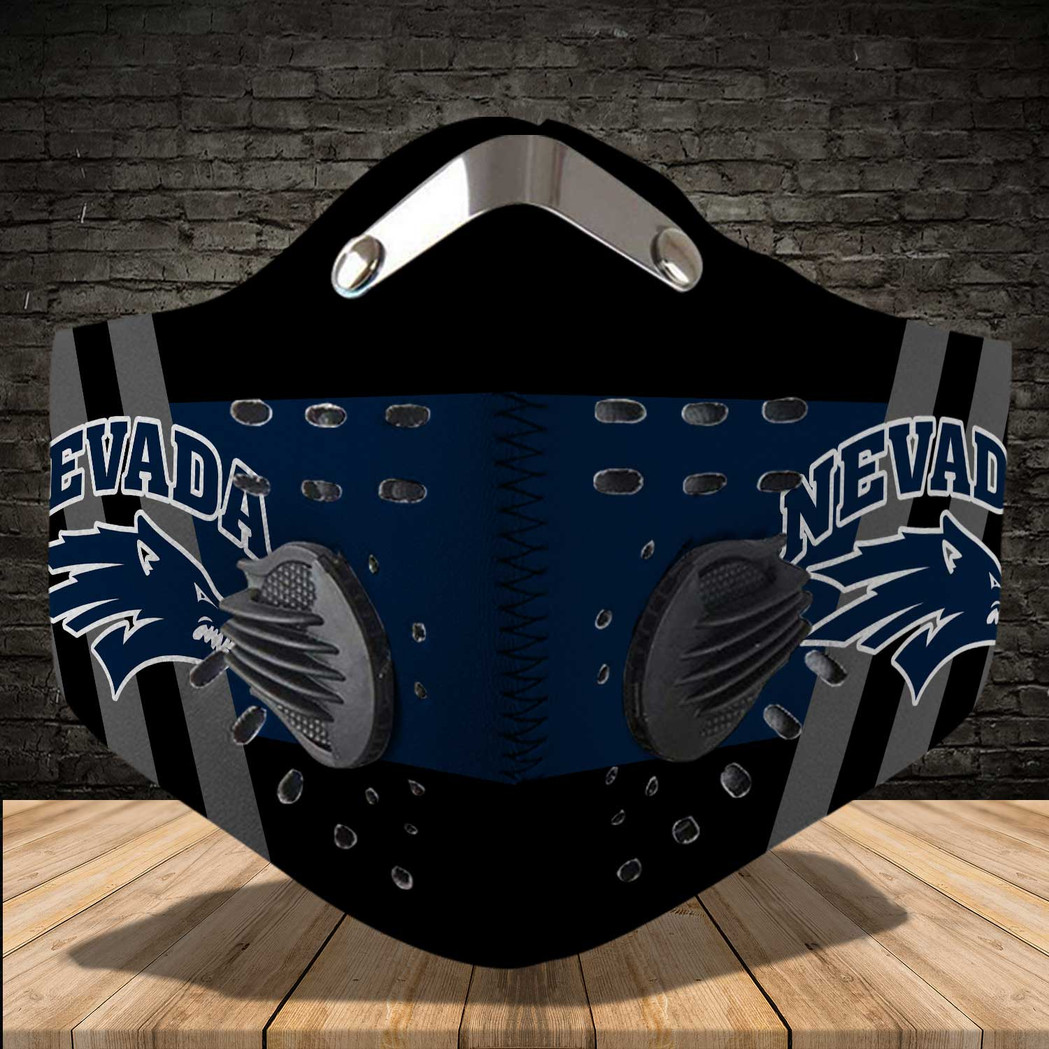 Nevada wolf pack football carbon filter face mask 4