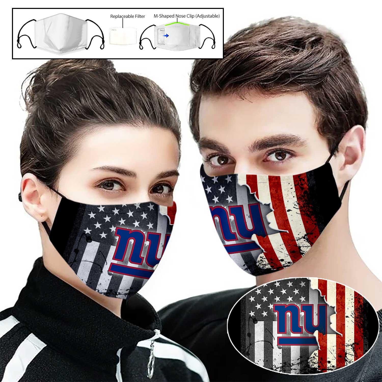 New york giants american flag full printing face mask 2