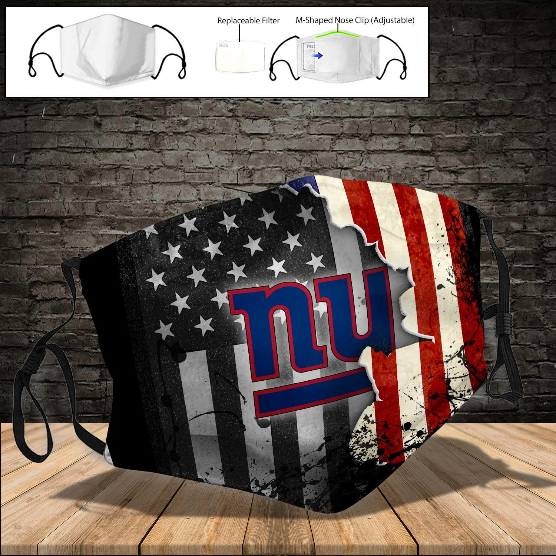 New york giants american flag full printing face mask 4