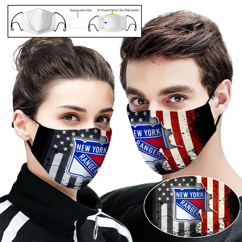 New york rangers american flag full printing face mask 1