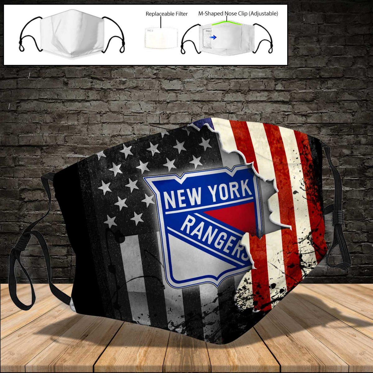 New york rangers american flag full printing face mask 3