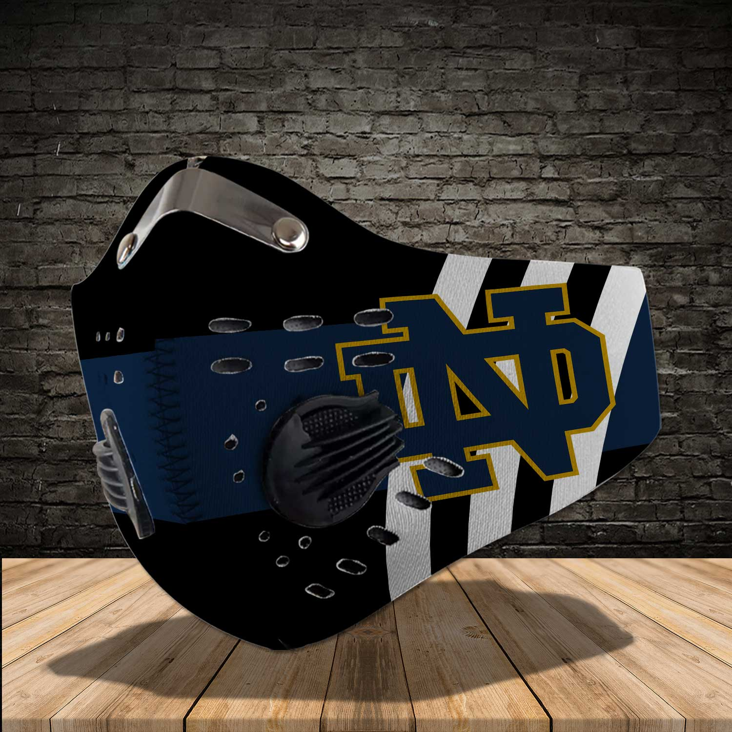Notre dame fighting irish football carbon filter face mask 2