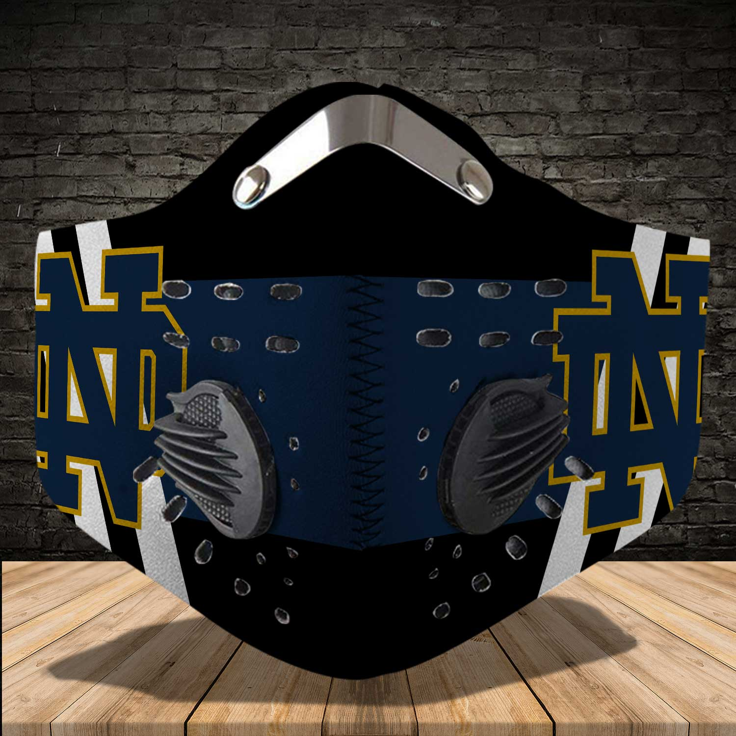 Notre dame fighting irish football carbon filter face mask 4