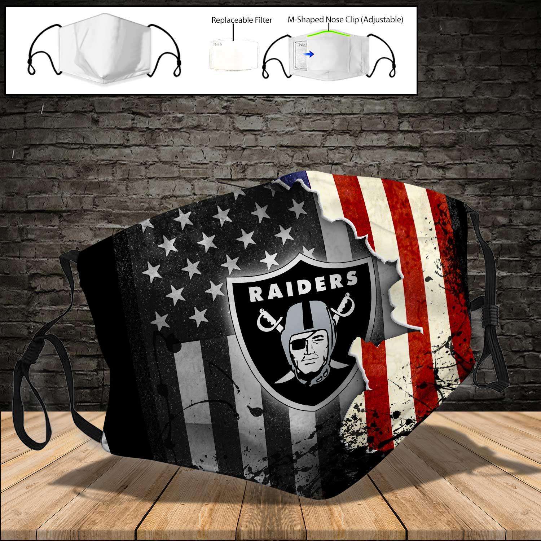 Oakland raiders american flag full printing face mask 3