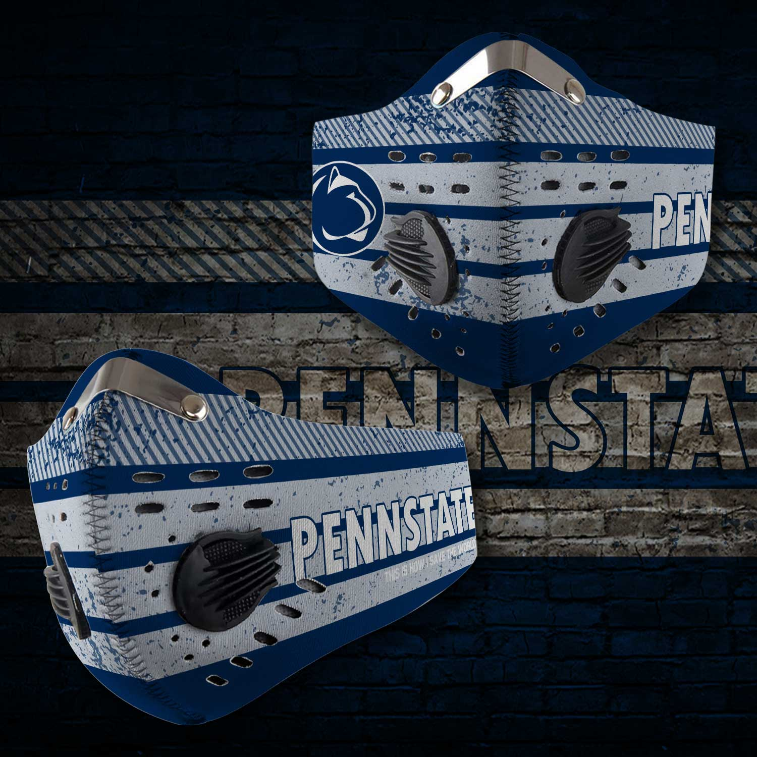 Penn state nittany lions this is how i save the world face mask 2