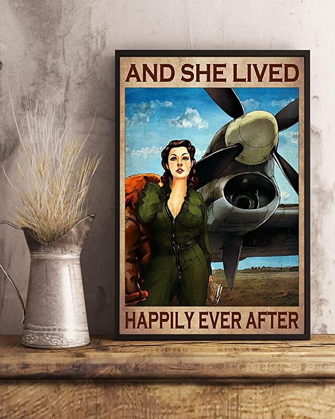 Pilot girl and she lived happily ever after poster 1