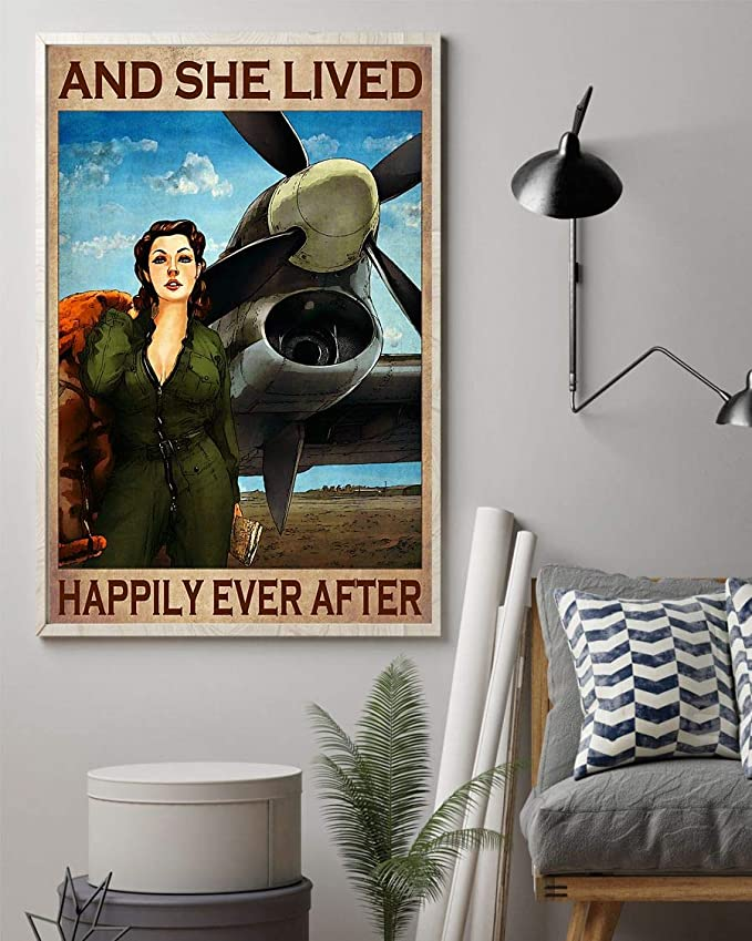 Pilot girl and she lived happily ever after poster 4