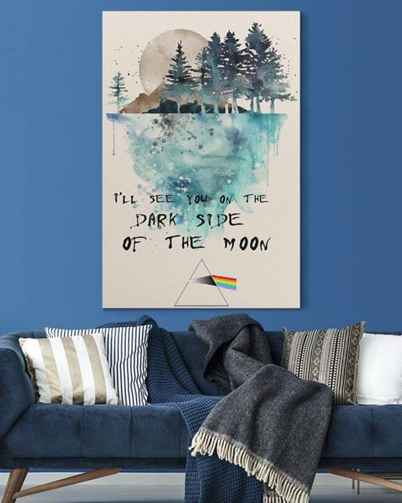 Pink floyd ill see you on the dark side of the moon watercolor poster 1
