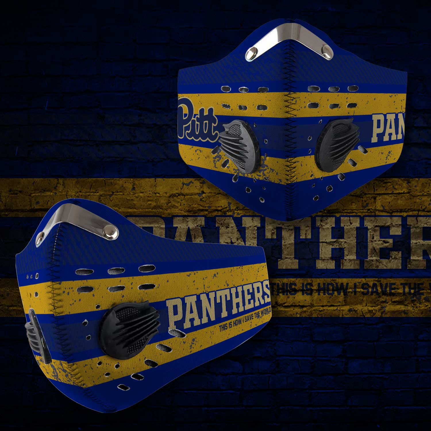 Pitt panthers this is how i save the world carbon filter face mask 1
