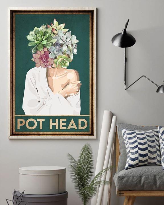 Pot head succulent vintage poster 2