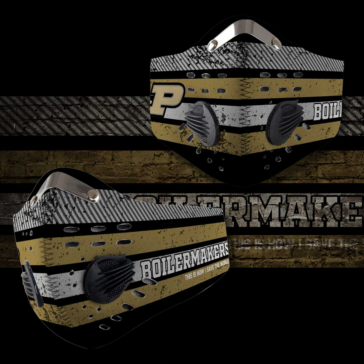 Purdue boilermakers this is how i save the world carbon filter face mask 2