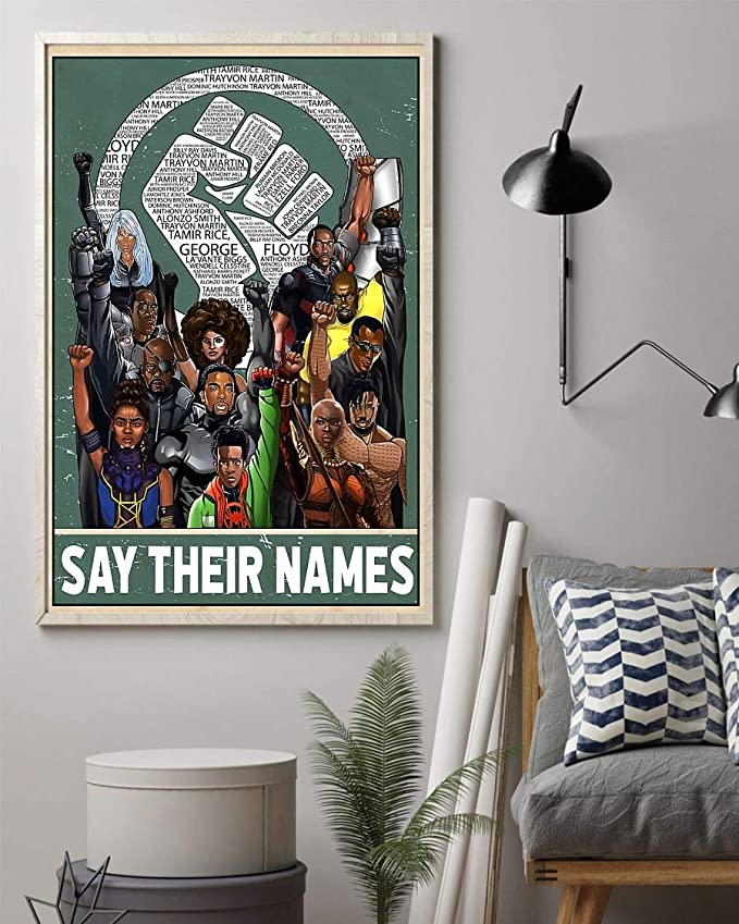 Say their names fist poster 1