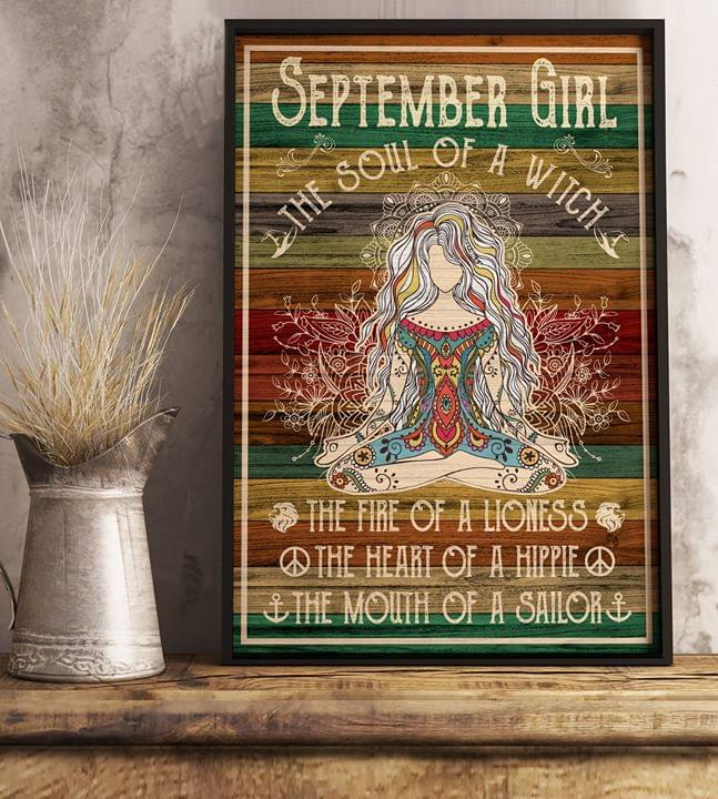 September girl soul of witch fire of lioness heart of hippie mouth of sailor poster 2