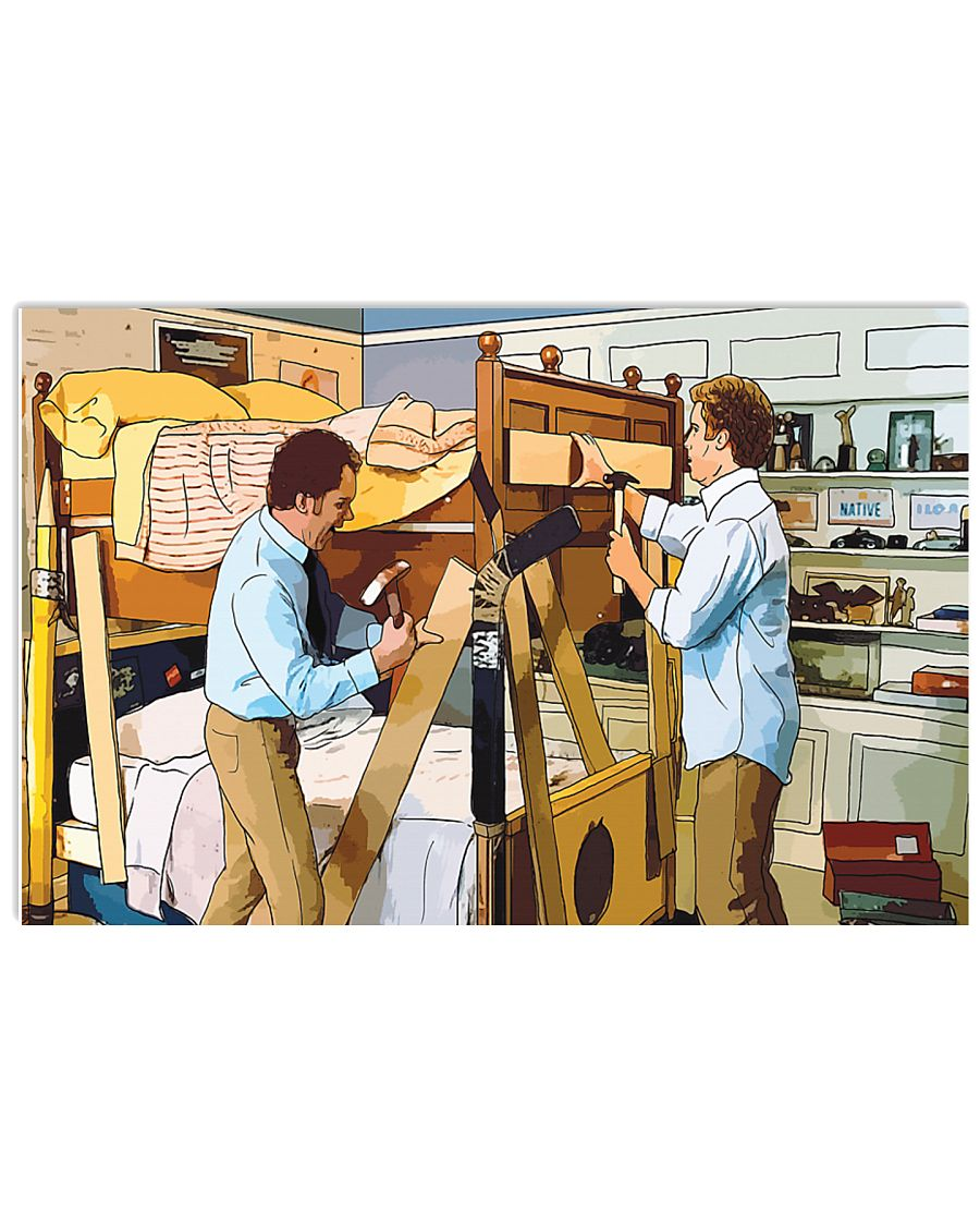 Step brothers homemade bunk bed scene cartoon poster 1