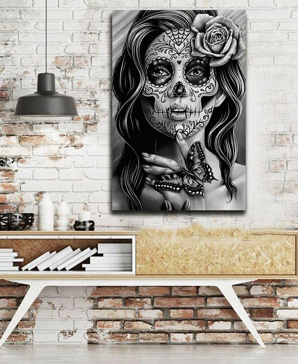 Sugar skull lady day of the dead poster 3