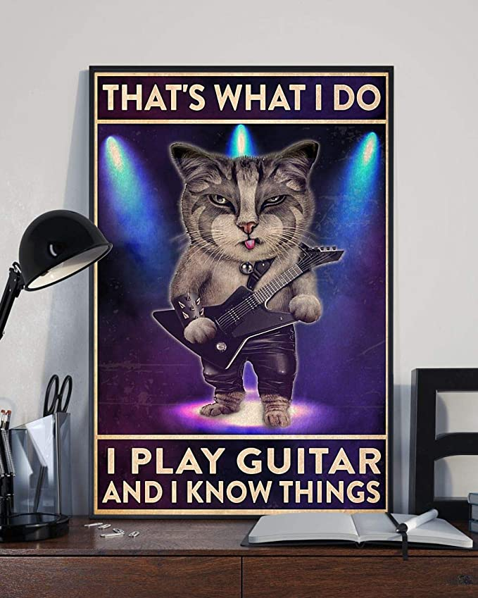 That's what i do i play guitar and i know things cat poster 4