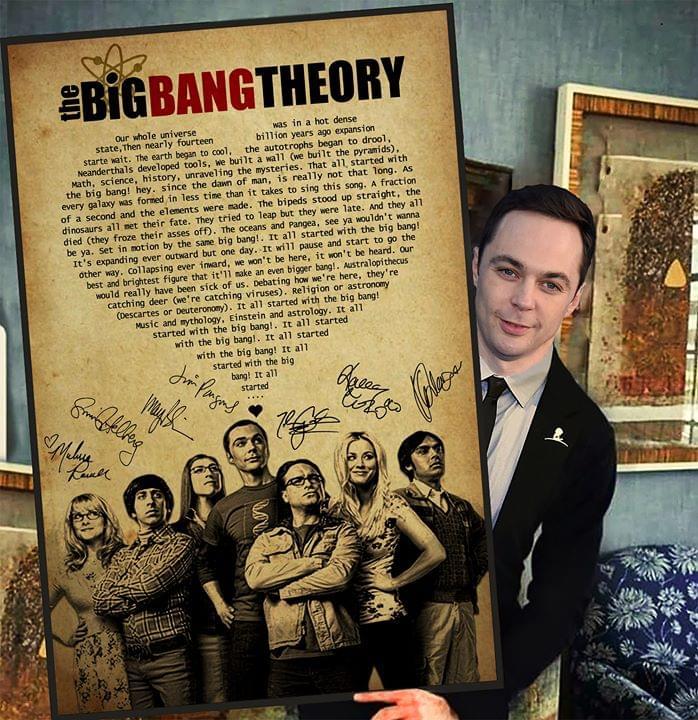 The big bang theory song lyric signatures poster 3