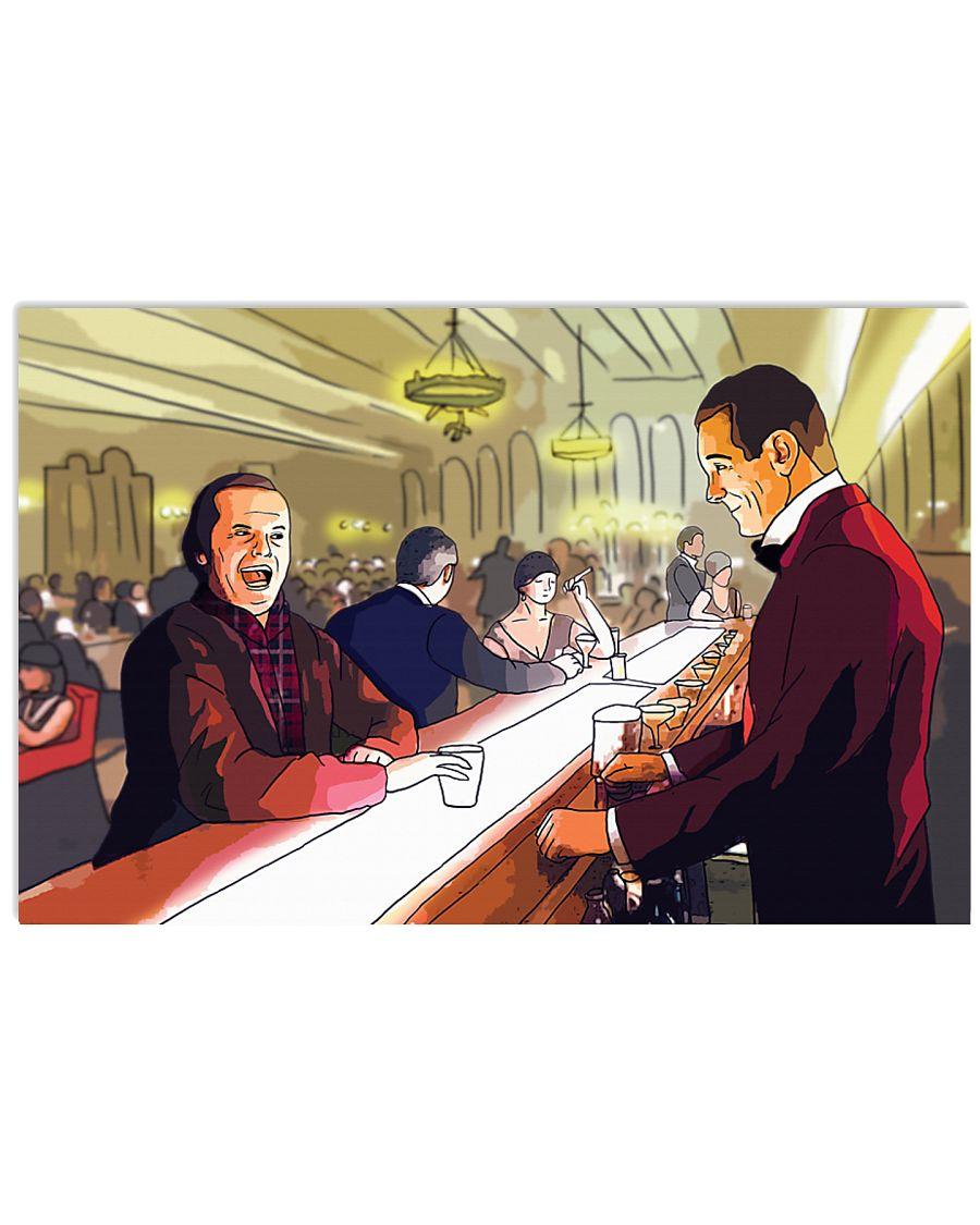 The shining jack torrance and lloyd cartoon poster 2
