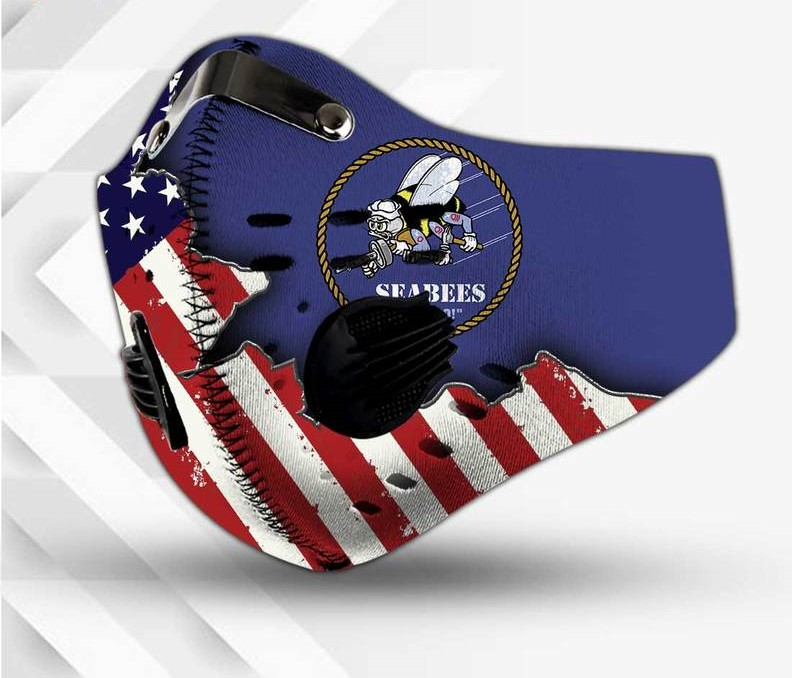 The united states navy seabees filter activated carbon face mask 3