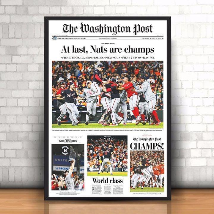 The washington post at least nats are champiosn washington nationals 2019 poster 2
