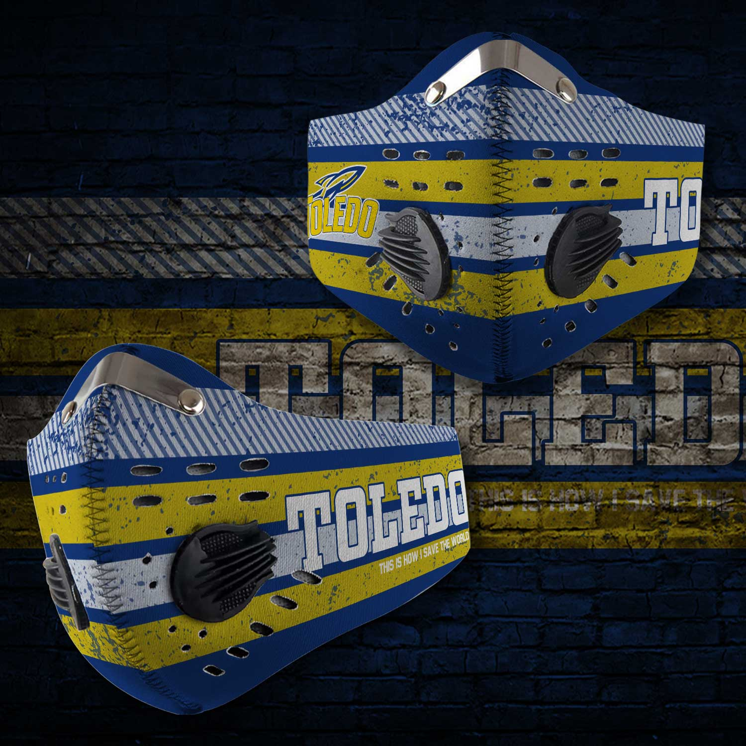 Toledo rockets this is how i save the world carbon filter face mask 1