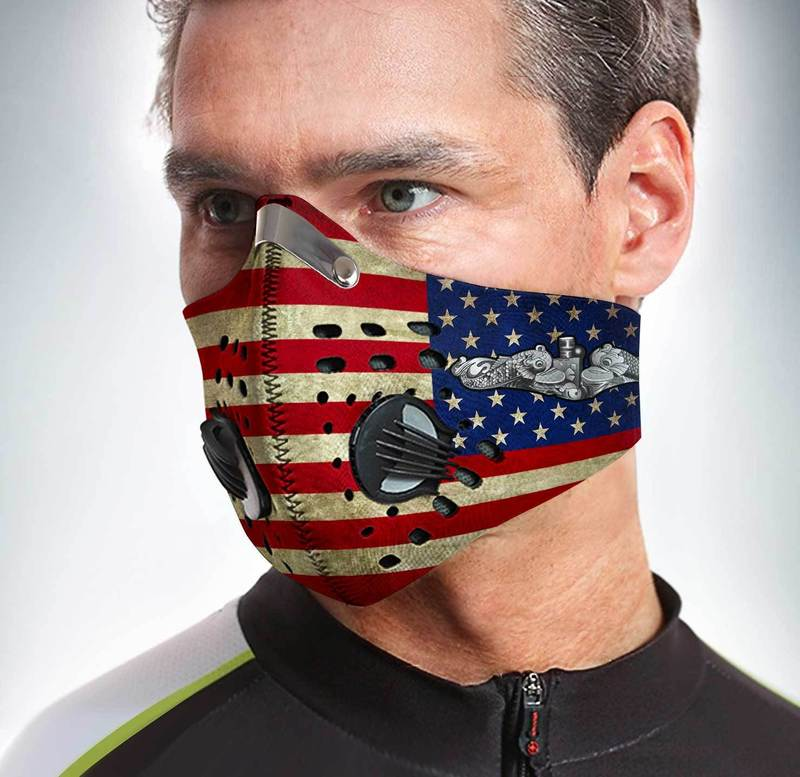 US navy submarine force pacific fleet filter activated carbon face mask 3