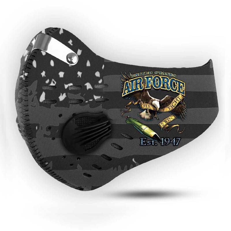 United states air force fly fight and win filter activated carbon face mask 1