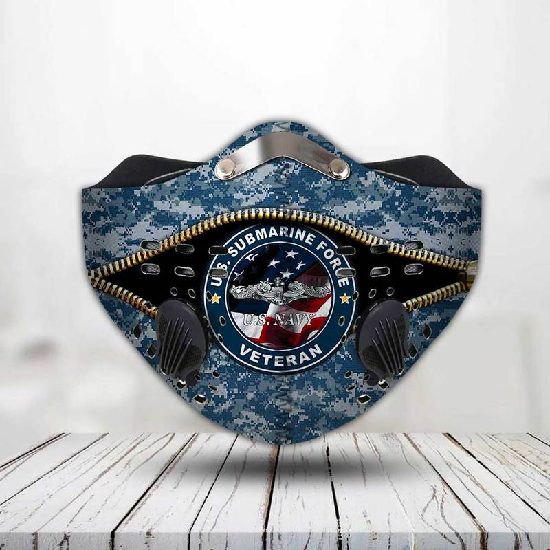United states navy submarines force veteran face mask 3