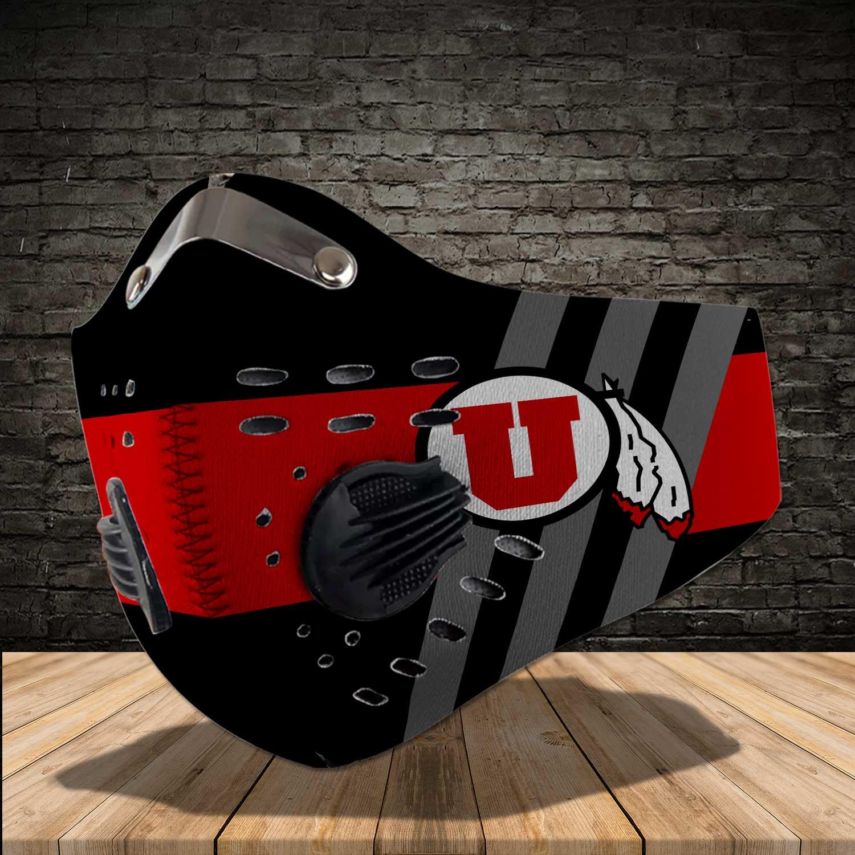 Utah utes football carbon filter face mask 1