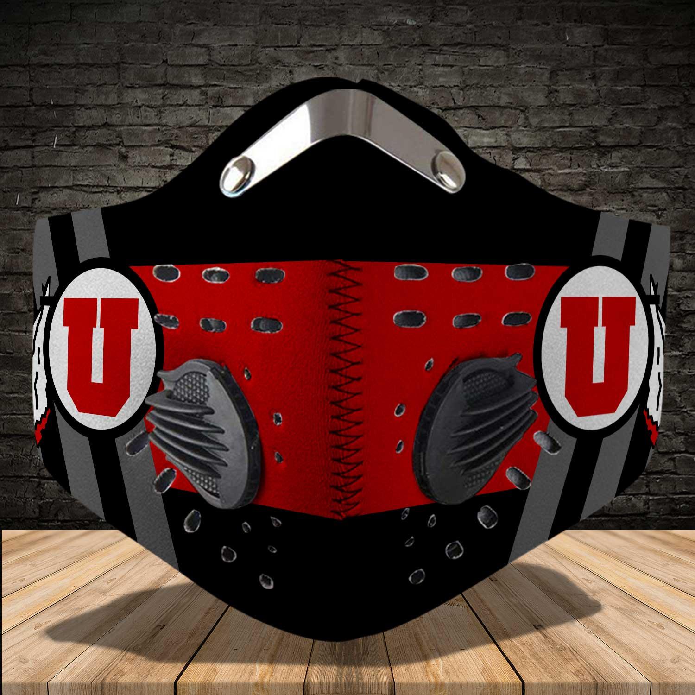 Utah utes football carbon filter face mask 3