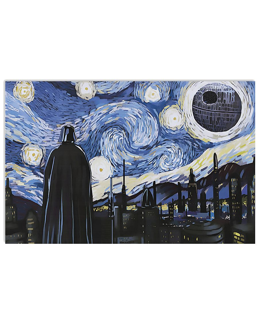 Vincent van gogh the starry night darth vader and death star poster 2