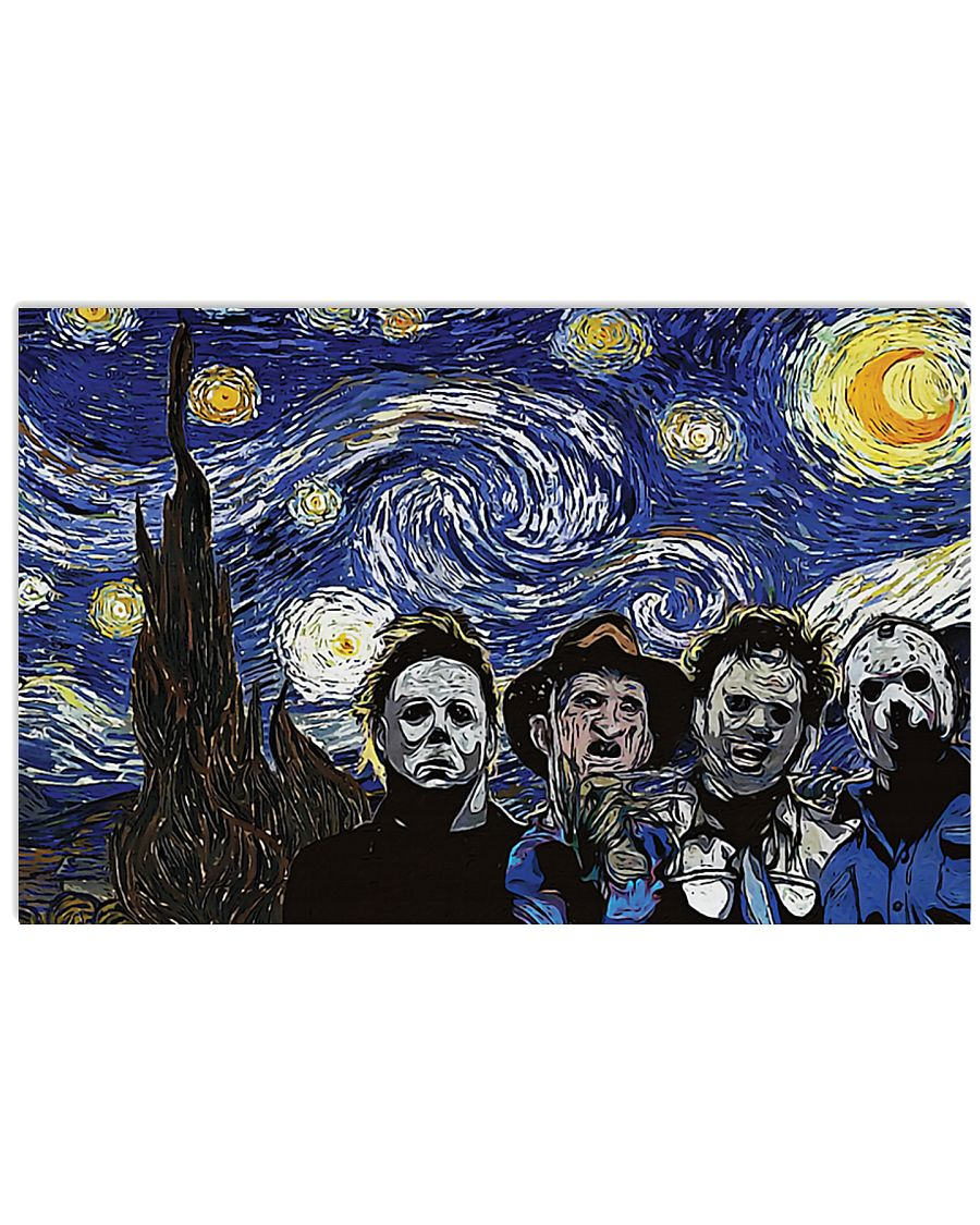 Vincent van gogh the starry night horror killers poster 1