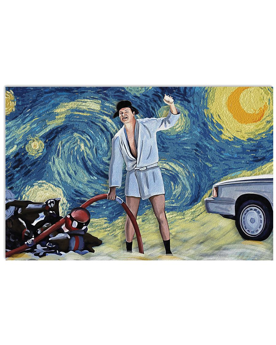 Vincent van gogh the starry night national lampoon's christmas vacation cousin eddie poster 3