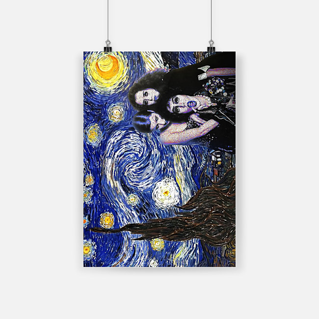 Vincent van gogh the starry night rocky horror picture show poster 1