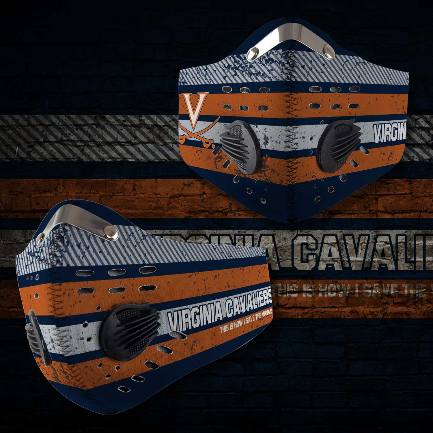 Virginia cavaliers this is how i save the world carbon filter face mask 2