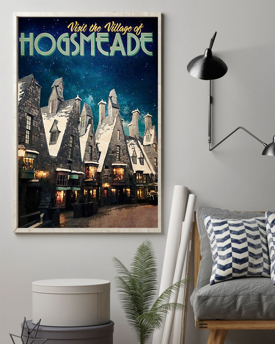 Visit the village hogsmeade retro poster 1