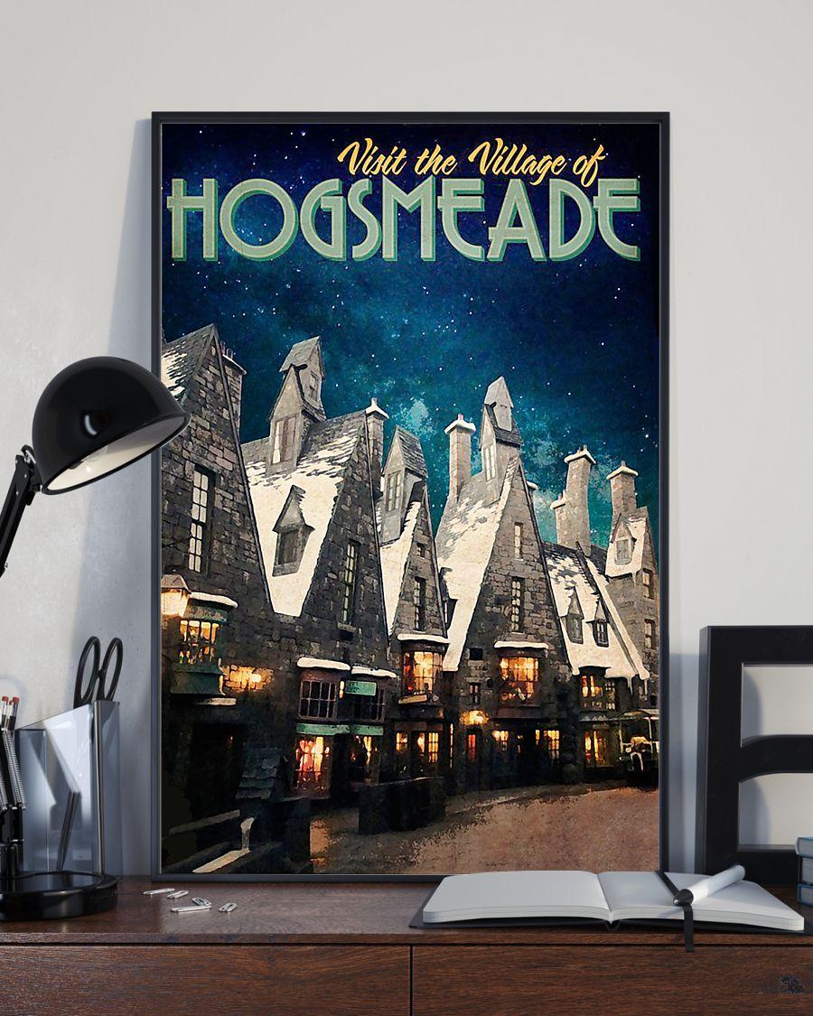 Visit the village hogsmeade retro poster 4