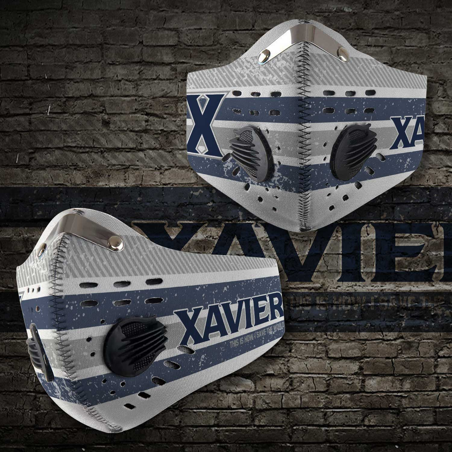 Xavier musketeers this is how i save the world carbon filter face mask 2