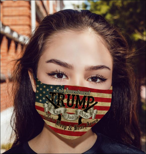 2nd amendment trump law and order anti pollution face mask 2