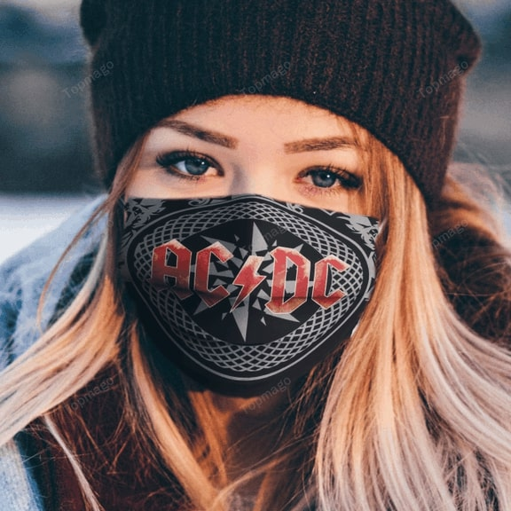ACDC rock band anti pollution face mask 2