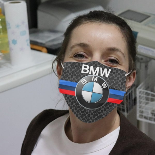BMW symbol full over printed face mask 1