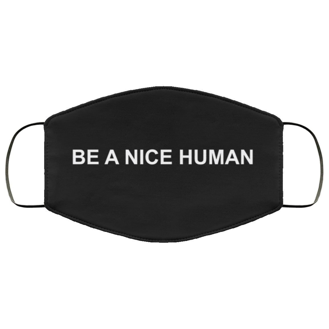 Be a nice human full over printed face mask 1
